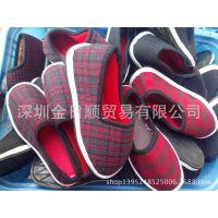 款休闲手工橡胶底便宜单鞋 适合摆地摊的棉鞋 黑色松紧棉鞋