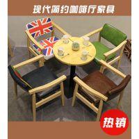 西餐厅老榆木桌椅组合 海德利仿古餐厅桌椅 ILLY餐厅专用桌椅