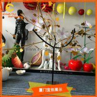 铁艺枫树主题美陈展示橱窗