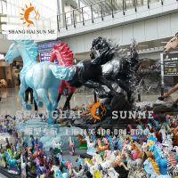 仿真马玻璃钢雕塑 动物模型定制 活动摆放展览