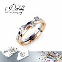 戴思妮 时尚水晶戒指 采用施华洛世奇元素 简约独特 女士饰品 厂家直销