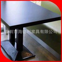 热卖 4人位西餐桌椅组合 黑色韩式东北桦木西餐桌 咖啡桌子特价