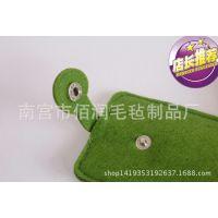 淘宝新款毛毡钥匙链| diy毛毡饰品挂件专业生产来图来样定做logo