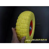 PU轮 聚氨酯轮 10寸发泡轮胎 免充气轮胎 货仓车轮