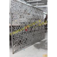 中式客厅玄关屏风隔断不锈钢镂空隔断 伟煌业屏风挂式订做厂家