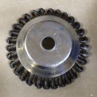 厂家直销 园林机械配套用清除杂草垃圾扭丝碗型钢丝轮钢丝刷