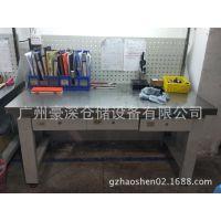 不锈钢工作台厂家定制不锈钢台面、桌架为优质;冷轧钢的组合工作台豪深供应