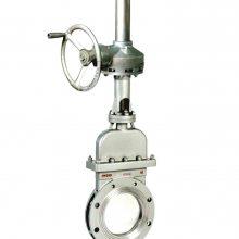不锈钢气动刀型闸阀/PZ673H-16P DN400 供应手动气动刀型闸阀 PZ673H-6/16C