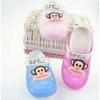 201夏季新款儿童果冻鞋洞洞鞋可爱卡通猴子宝宝凉鞋家居防滑拖鞋