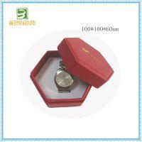 红色六角天地盖手表盒 深圳中高档手表包装厂 可定做手表包装盒