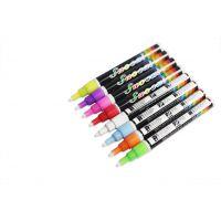 文具店热卖10MM水彩笔 出口认证玻璃笔 8色儿童绘画安全无毒 LED荧光板用液体粉笔