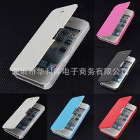 iphone6P超薄左右开翻盖皮套苹果5s磁铁扣4代保护套手机外壳