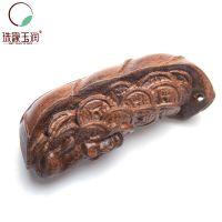 正品天然木质工艺品 檀香木玉鼠送财雕件 男女款挂件 小型手把件