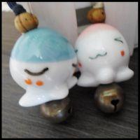 生产供应 卡通陶瓷工艺风铃 创意陶瓷风铃 章鱼小丸子