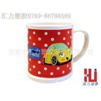 工厂订制儿童PVC马克杯PVC软胶环保创意小汽车马克杯