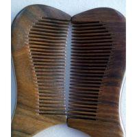仪缘饰家 厂家直供批发绿檀木短梳子 头梳 天然檀香木梳 精品款