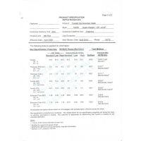 杜邦Tyvek特卫强纸无纺布1025D材质参数检测报告,硬质厚度克重