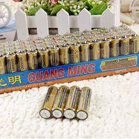 厂家批发 正品光明5号通用干电池 玩具电池 高性能通用碱性干电池