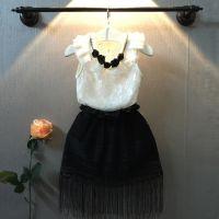 皮皮猪女童无袖T恤背心2015夏装新款韩版儿童蕾丝打底衫上衣