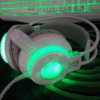 今盾T1电脑耳机头戴式 游戏耳麦带话筒PC音乐网吧台式专用发光CF