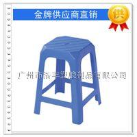 加厚全新料塑料凳子 塑胶高脚方凳 饭店餐厅专用餐凳 排档椅子