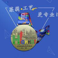高档金属铜烤漆马拉松运动会纪念章莱莉定制