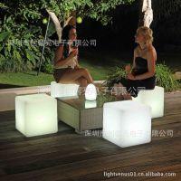 供应酒店家具 时尚椅子 led家具 塑料立方体 厂家直批