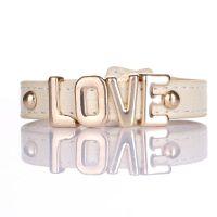 欧美外贸原单 潮流LOVE皮革手链LOVE皮革手链 小额混批 现货供应
