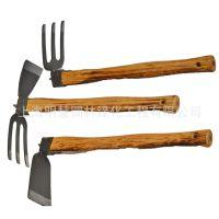 锻打木柄锄头|全钢短柄种菜工具|园艺花园工具|防脱小锄头农具