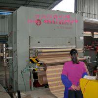 供应国森机械制造1200T草席藤席竹凉席压布机