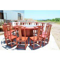 明清仿古实木雕花圆桌 餐桌 实木家具 特价直销