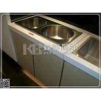 厨房不锈钢水槽水龙展柜 厨卫专卖店体验柜