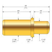 供应深圳新富城 BIP-10 镀金弹簧顶针 电池针连接器