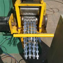 安平刀片刺绳 山地铁蒺藜围网 镀锌带刺金属网