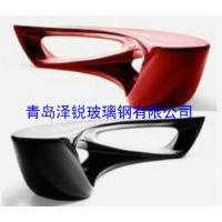 青岛玻璃钢商场造型椅,玻璃钢长条休闲椅