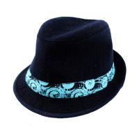 外贸工厂直销 英伦帽时尚绅士eva定型帽 毛呢毛毡定型礼帽 出口