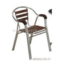 供应户外家具 双管铝木椅子 餐厅椅子 客厅椅子