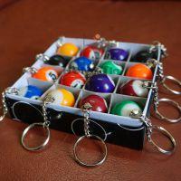 厂家直销仿真台球钥匙扣(台球挂件)台球钥匙链台球饰品等台球用品