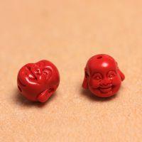 【新品】厂价批发 台湾红朱砂石迷你笑佛散珠 DIY 饰品配件配珠