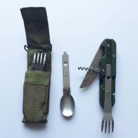 厂家现货小礼品可拆装户外三宝多功能餐具 露营登山徒步餐刀