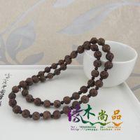 越南天然沉香木雕 54颗莲花手串手链 男女款 木质工艺品精品