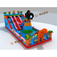 黑猩猩攀岩城堡,波浪型滑梯的气堡多少钱,大型充气玩具|充气蹦床|充气滑梯|气堡造型