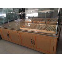 ?木质蛋糕展示柜台 玻璃面包展示柜 高档面包中岛柜 面包中岛柜价格 烘焙设备厂家直供