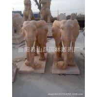 定做石雕大象 工艺品 汉白玉大象 招财大象雕刻  动物雕塑