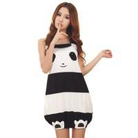 特价批发 睡裙女夏 夏季少女可爱熊猫吊带睡裙 家居裙睡衣 女棉质