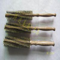 木滚梳美发造型专业高级卷发梳 厂家生产吹造型梳子滚梳圆筒梳