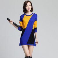 2014秋冬季新款韩版条纹羊毛针织衫女修身长袖打底衫羊毛衫批发