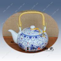 供应唐龙陶瓷8头青花手绘茶具可定做