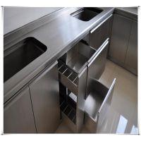 厂家生产不锈钢橱柜设备,不锈钢橱柜台面/柜体/衣柜/餐边柜/排椅