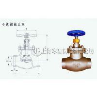 不锈钢焊接式波纹管截止阀WJ20F1.6P 上海本高波纹管焊接截止阀WJ15F1.6P不锈钢焊接式波